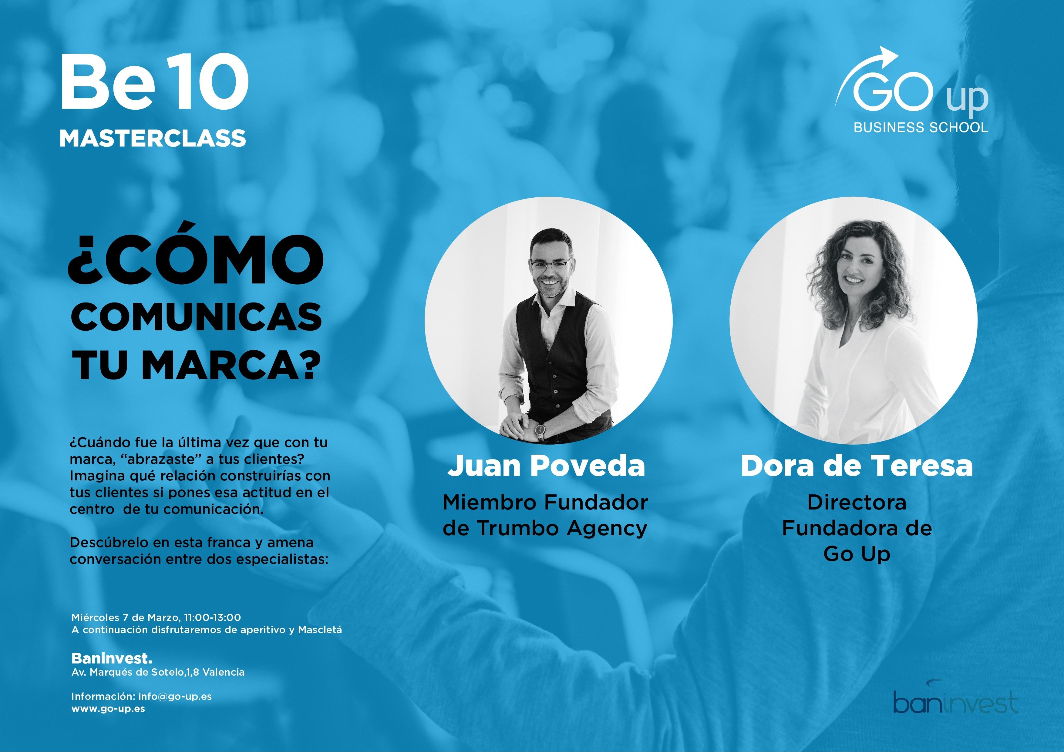Juan Poveda nos enamora con una Másterclass Be 10 de Comunicación y marca